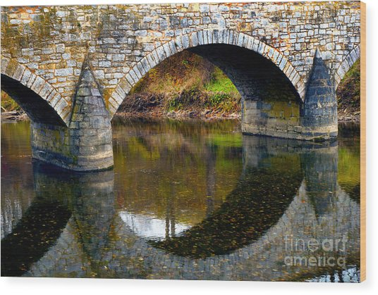 Burnside Bridge Arches  Wood Print