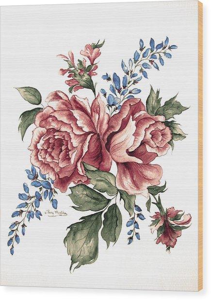 Bursting Blooms Wood Print by Patty Muchka