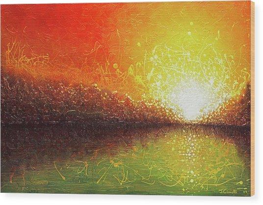 Bursting Sun Wood Print