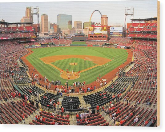 Busch Before The Game Wood Print