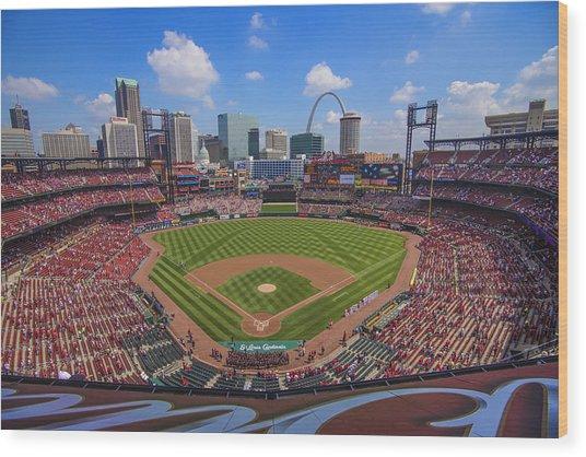 Busch Stadium St. Louis Cardinals Ball Park Village #3b Wood Print