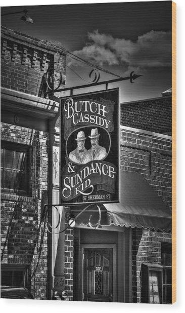 Butch Cassidy And The Sundance Kid Wood Print