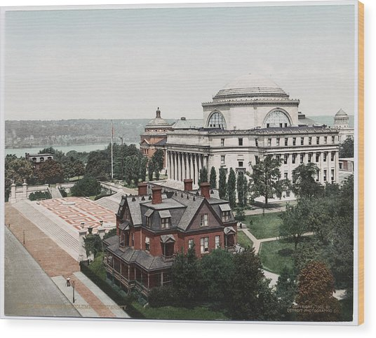 Butler Library At Columbia University Wood Print