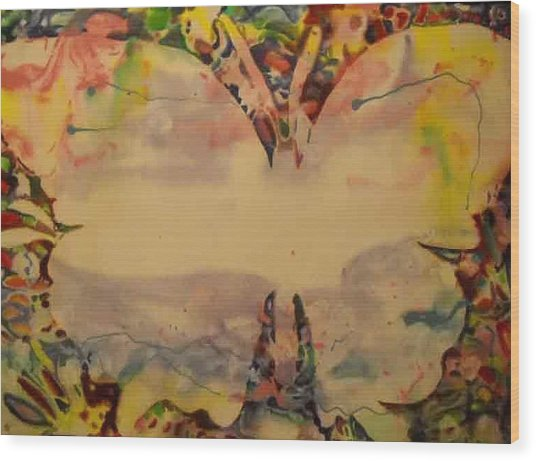 Butter Fly 2 Wood Print