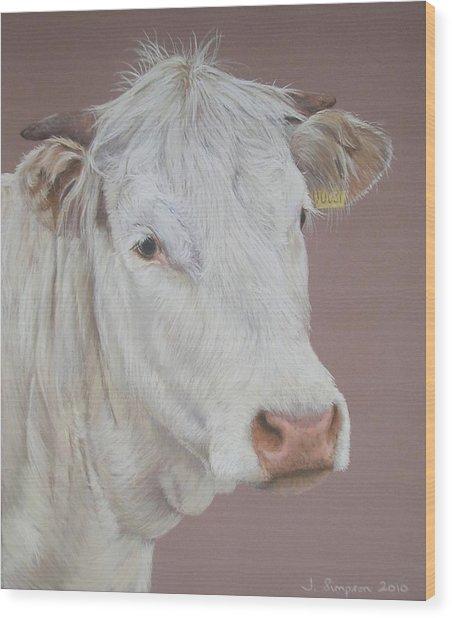 Buttercup Wood Print by Joanne Simpson
