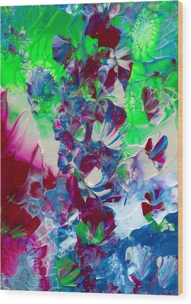 Butterflies, Fairies And Flowers Wood Print