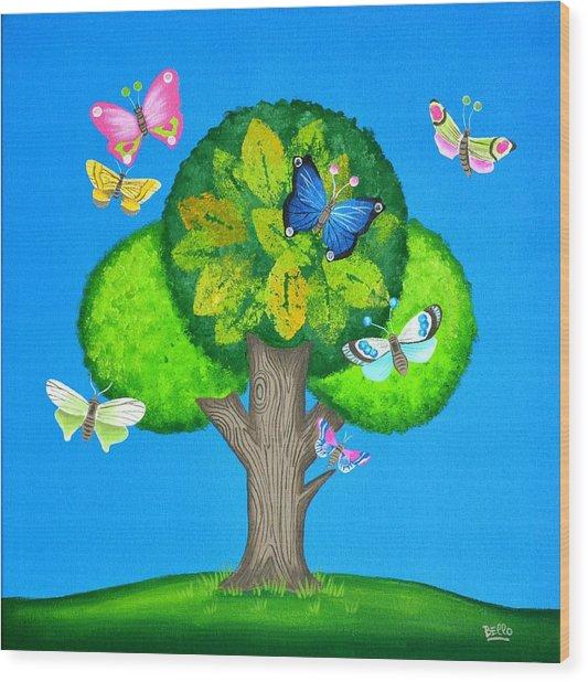 Butterflies Refuge Wood Print