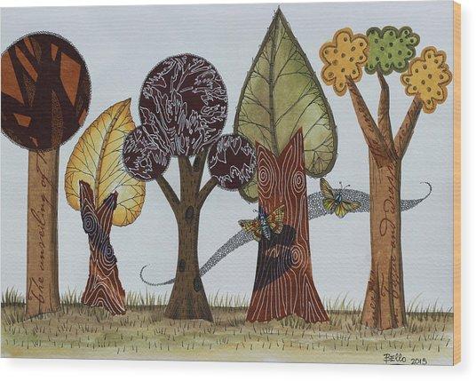 Butterflies Romance Wood Print