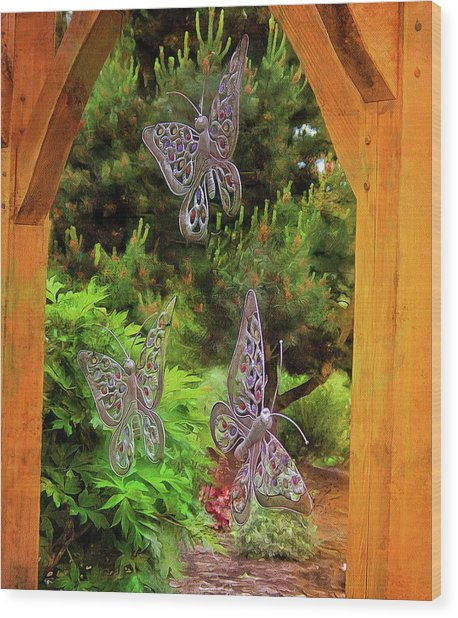 Wood Print featuring the photograph Butterflies by Thom Zehrfeld