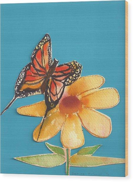 Butterflower Wood Print
