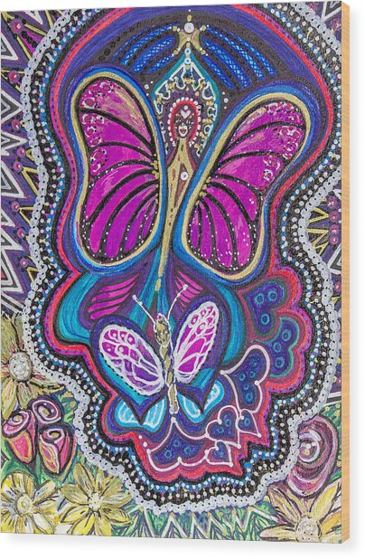 Butterfly Angels Wood Print