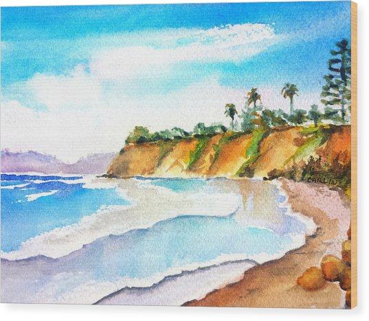 Butterfly Beach Santa Barbara Wood Print