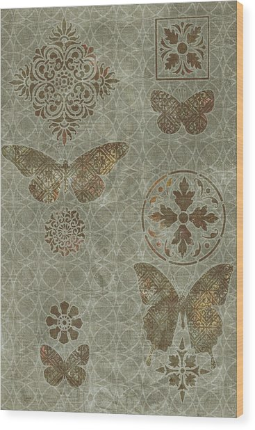 Butterfly Deco 2 Wood Print