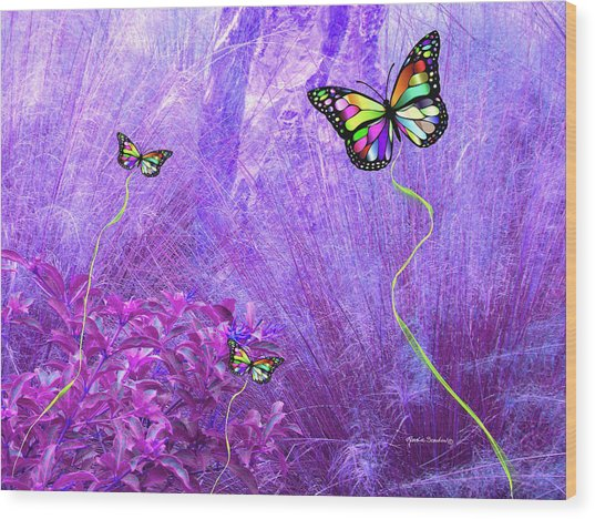 Butterfly Fantasy Wood Print