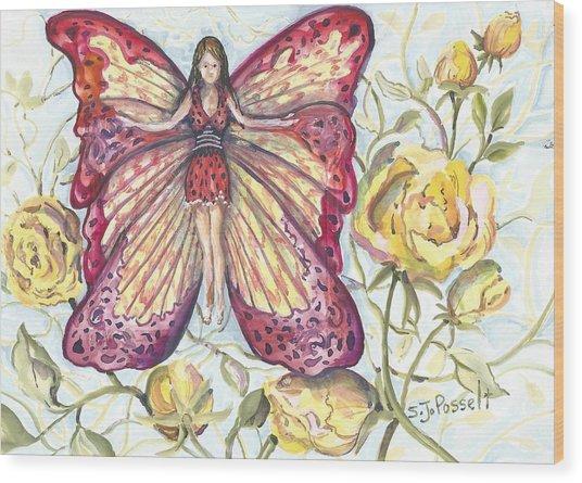 Butterfly Grace Fairy Wood Print