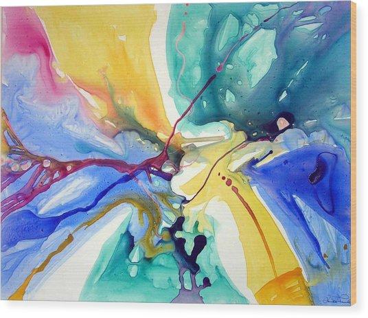 Butterfly Nebula Wood Print