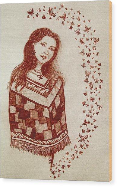 Butterfly Princess Wood Print by Nick Gustafson