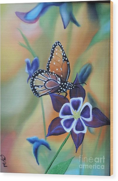 Butterfly Series#4 Wood Print