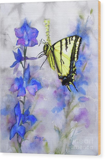Butteryfly Delight Wood Print