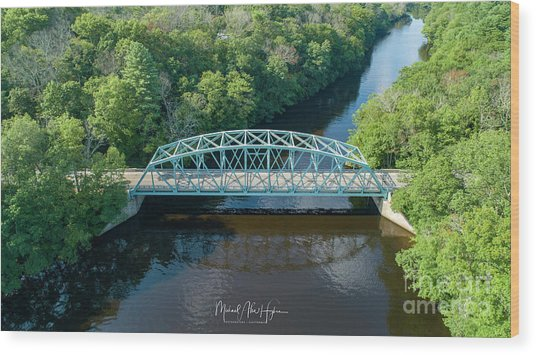 Butts Bridge Summertime Wood Print