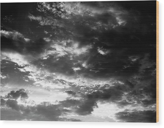 Wood Print featuring the photograph Bw Sky by Eric Christopher Jackson