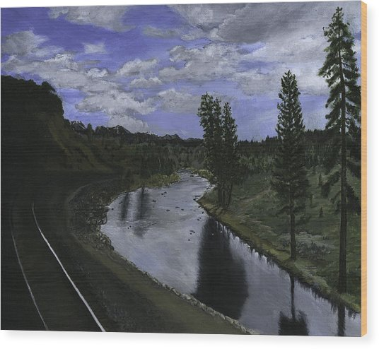 By Rail Wood Print
