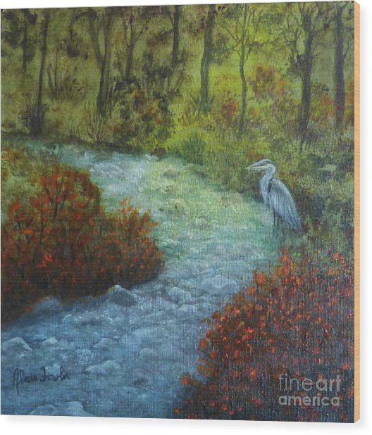 By The Brook Wood Print