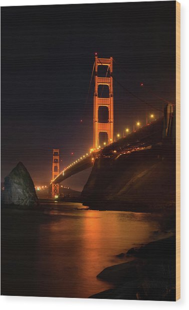 By The Golden Gate Wood Print