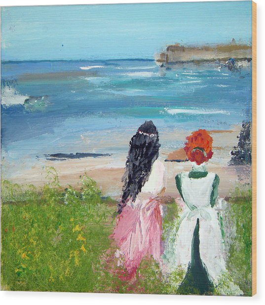 By The Shores By Colleen Ranney Wood Print