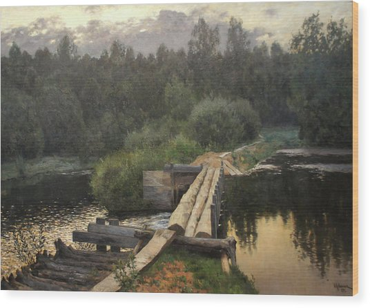By The Whirlpool Wood Print by Isaac Levitan