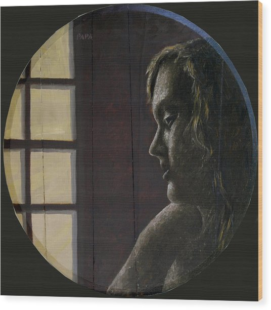 By The Window Wood Print by Ralph Papa