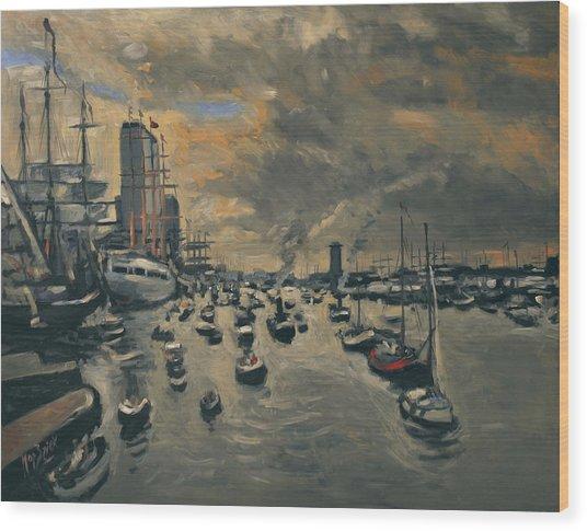 Bye Bye Sail Amsterdam Wood Print