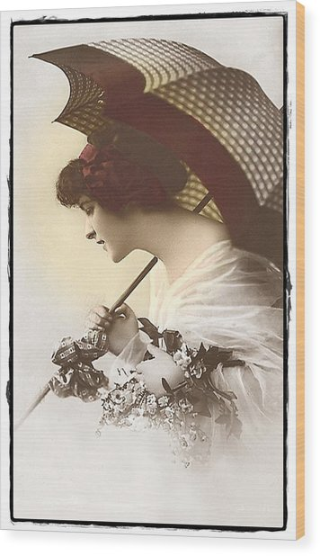 Bygone Beauty Wood Print