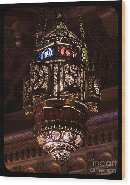 Byzantine Lamp Wood Print