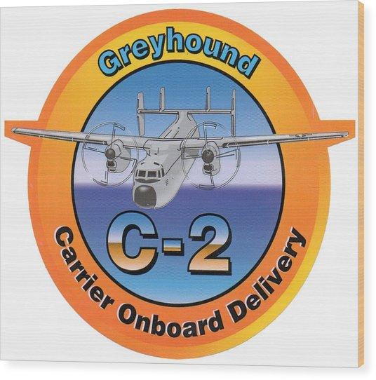 C-2 Greyhound Wood Print