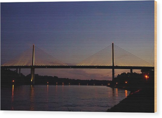 C And D Canal Bridge Wood Print
