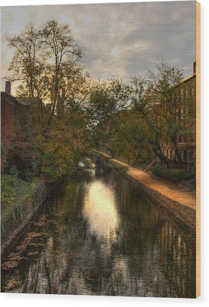 C And O Canal Wood Print
