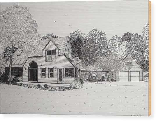 C And P's House  Wood Print