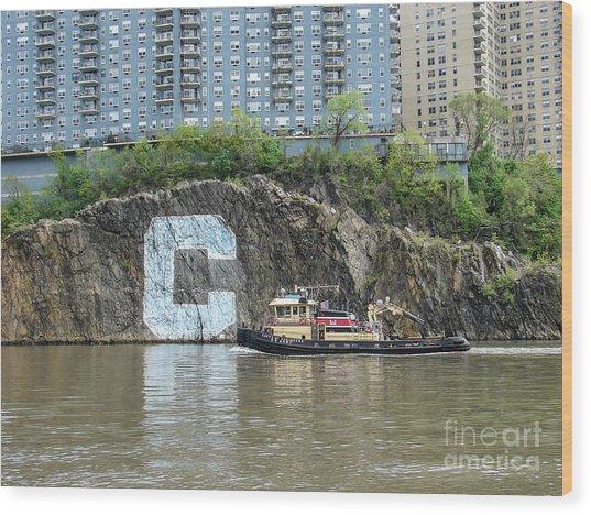 C Rock With Tug Wood Print