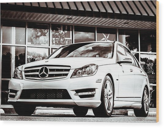 C250 In Black And White Wood Print