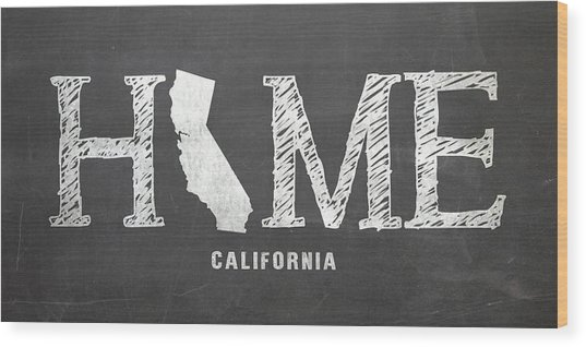 Ca Home Wood Print