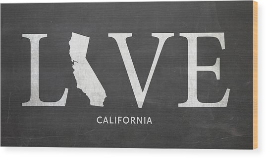 Ca Love Wood Print