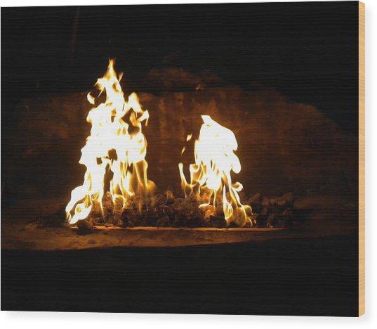 Cabana Fire  Wood Print