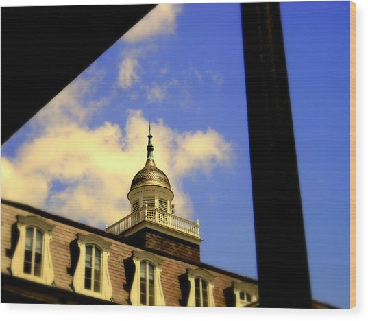 Cabildo Cupola Jackson Square Wood Print by Ted Hebbler