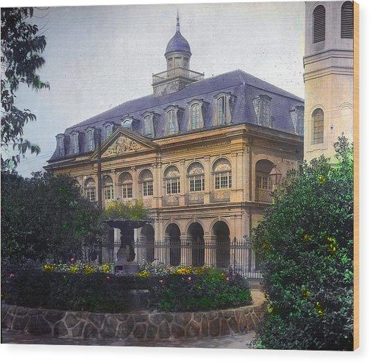 Cabildo In Color Wood Print