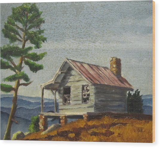 Cabin Wood Print by D T LaVercombe