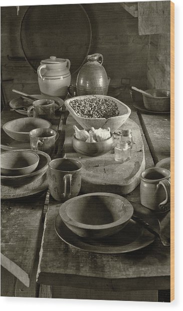 Cabin Kitchen Table Wood Print