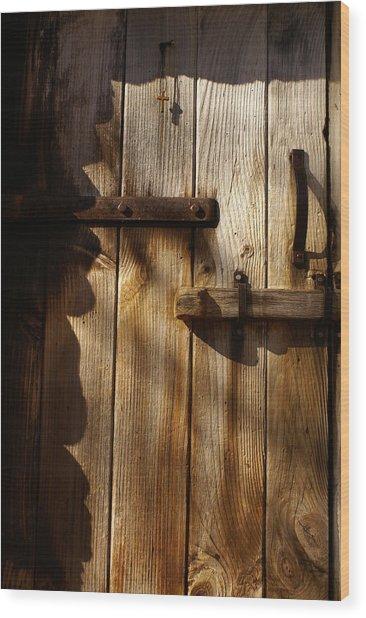 Cabin Wood Print by Margaret Steinmeyer