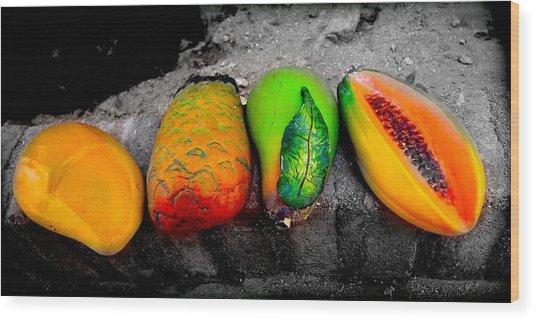 Cabo Fruit Art Wood Print