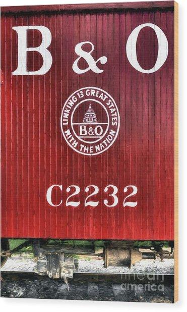 Caboose # C2232 Wood Print by Mel Steinhauer